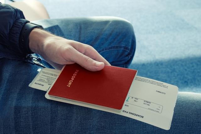 passport and ticket plane