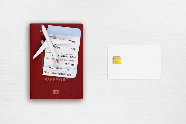 Passport, boarding pass,