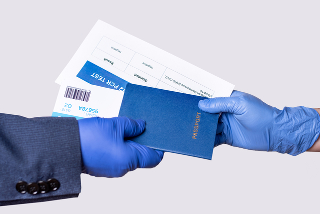 Passport, ticket,